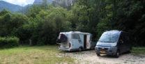 Eenvoudige camperplaats bij Rémuzat.
