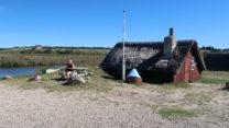 Eén van de vier oude vissershuisjes.