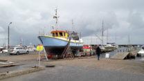 In de haven van Ålbæk aan de Oostzee.