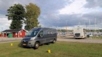 Leuk plekje aan de jachthaven van Hadsund.