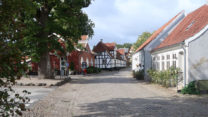 Straatbeeld in Mariager.