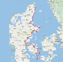 De afgelegde route in week 3.