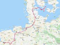 De route van de afgelopen week.