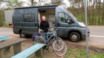 Koffie in Duitsland, de fietsen moeten er dan even uit...
