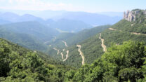 De Col de Rousset, we gaan van 400 naar 1200m hoogte.