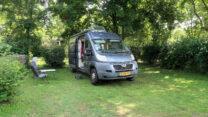 Op de camping nabij Vichy.