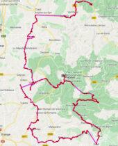 De route van de afgelopen dagen vanaf Die.