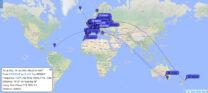 Xenia ZL4YL ontving mijn signaal in Nieuw-Zeeland, 37 min. geleden.