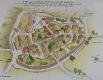 De plattegrond van het dorp.