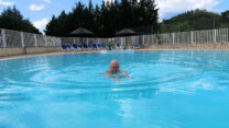Eerst lekker zwemmen, na een warme dag!