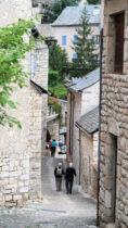 Mooie, smalle straatjes in Sainte-Enimie.